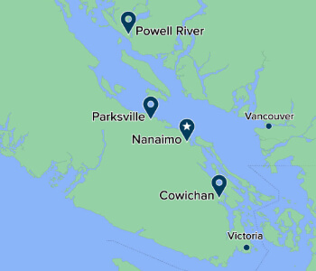 Map of Vancouver Island University Campuses