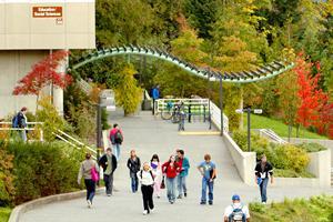 VIU Nanaimo campus bldg 356 ground level view